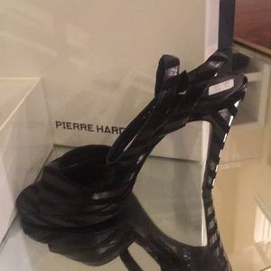 Pierre hardy striped suede leather sandal
